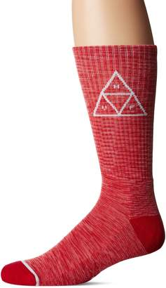 HUF Men's Triple Tri Melange Crew Sock