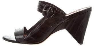 Derek Lam Eel Skin Slide Sandals