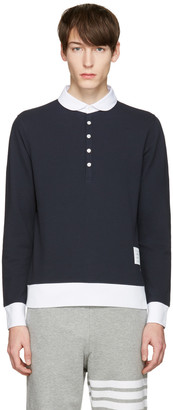 Thom Browne Navy Collection Polo $450 thestylecure.com