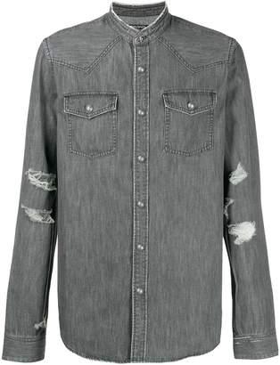 Balmain faded denim shirt