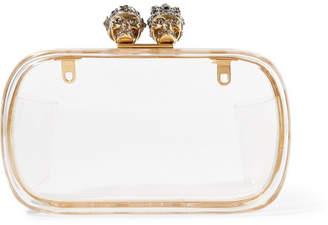 Alexander McQueen Knuckle Embellished Plexiglas Clutch - Clear