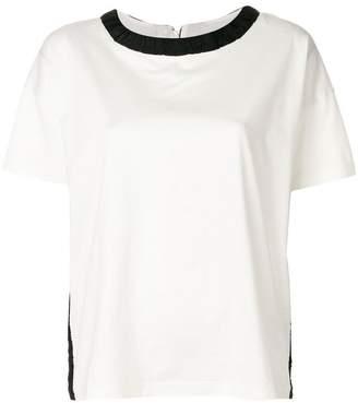 Moncler contrast-collar T-shirt