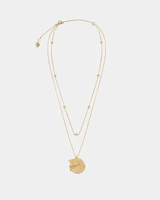 Wanderlust + Co Ines Double Gold Necklace