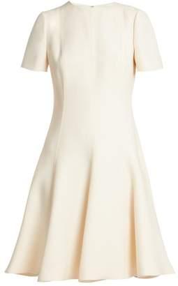 Valentino Wool And Silk Blend Dress - Womens - Ivory