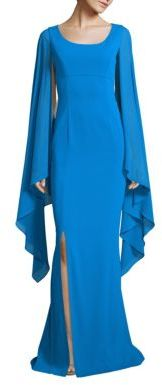 St. John Silk Cape Dress $1,895 thestylecure.com