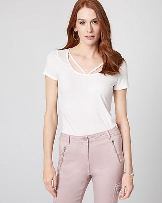 Le Château Jersey Knit Scoop Neck T-Shirt