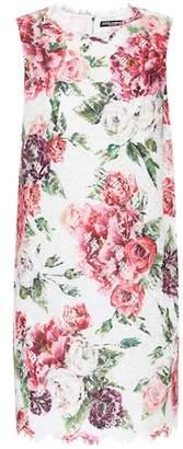 Dolce & Gabbana Floral jacquard minidress
