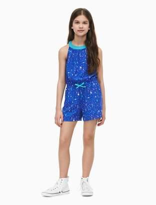 Calvin Klein girls paint splatter halter neck romper