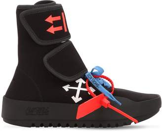 Off-White 30mm Moto Wrap Knit Sneakers