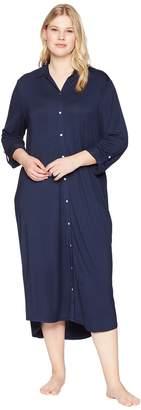 Lauren Ralph Lauren Plus Size Long Sleeve Roll Tab Ballet Sleepshirt Women's Pajama