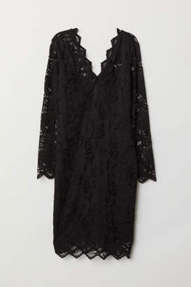 H&M Fitted Lace Dress - Black