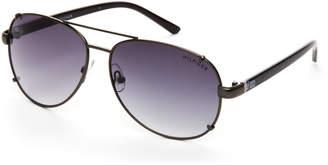 Tommy Hilfiger Ruthenium-Tone Bradshaw Aviator Sunglasses
