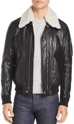 Belstaff Arne Shearling-Trimmed Leather Jacket