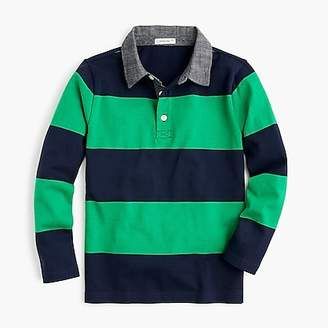 J.Crew Boys' rugby shirt with chambray collar