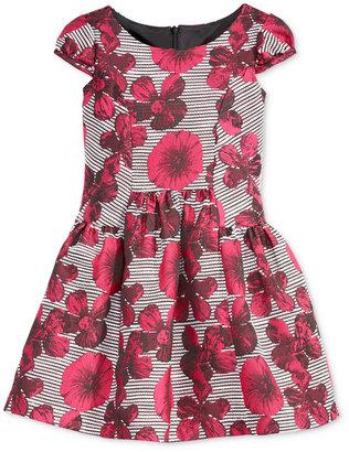Bonnie Jean Little Girls' Printed Cap-Sleeve Dress $74 thestylecure.com