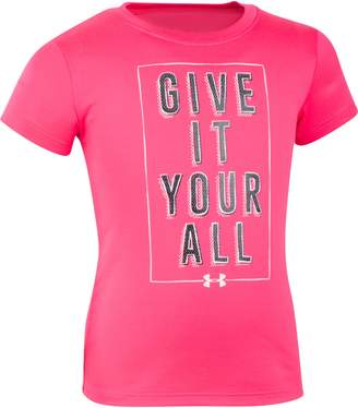 Under Armour Girls' Pre-School UA Give It Your All Short Sleeve T-Shirt