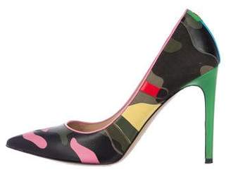 Valentino Camouflage Pointed-Toe Pumps