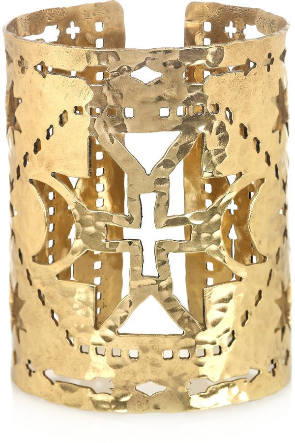 Pamela Love Navajo-inspired cutout brass cuff