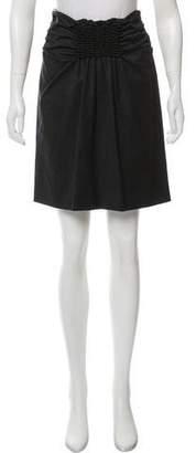 Rene Lezard Gathered Wool Skirt