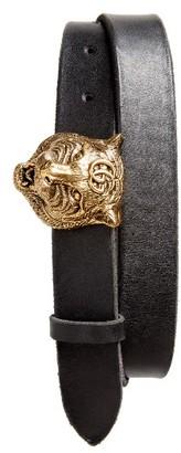 Men's Gucci Tiger Buckle Belt $480 thestylecure.com