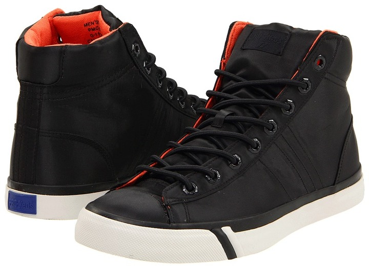 Pro-Keds Royal Plus Hi (Black Heavy Nylon) - Footwear
