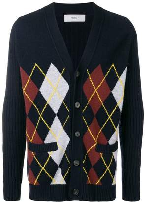 Pringle argyle v-neck cardigan