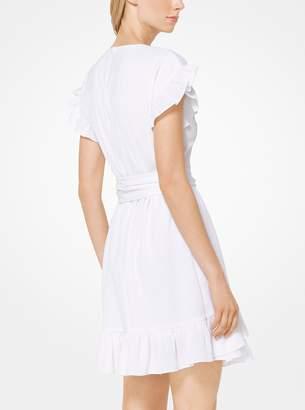 MICHAEL Michael Kors Crinkled Gauze Wrap Dress