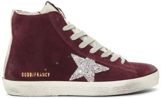 Golden Goose Burgundy Suede Francy Sneakers