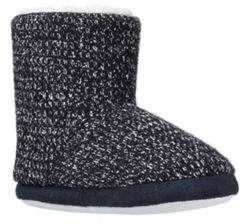 Fleece Lined Knitted Bootie Slippers