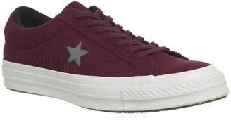 One Star Trainers Dark Burgundy Mason