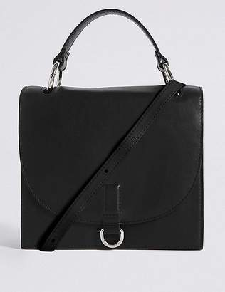 Marks and Spencer Leather Top Handle Tote Bag
