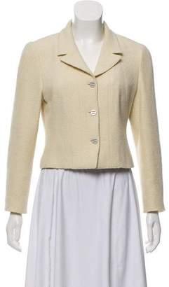 Chanel Tweed Notch-Lapel Blazer