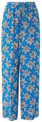 LK Bennett Oriana Blue White Silk Trouser