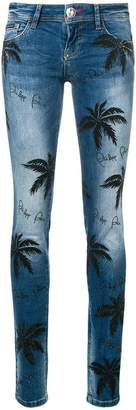 Philipp Plein palm tree print jeans