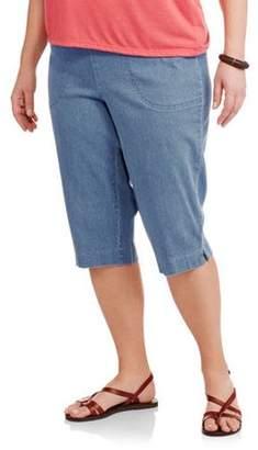 Just My Size Women's Plus-Size 2 pocket Pull-On Capri