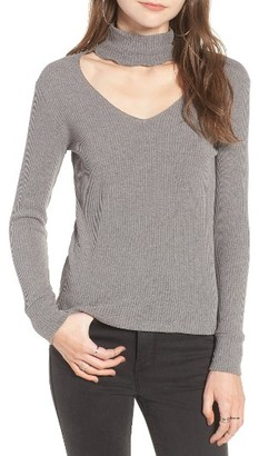 Women's Lna Cutout Turtleneck Tee $110 thestylecure.com