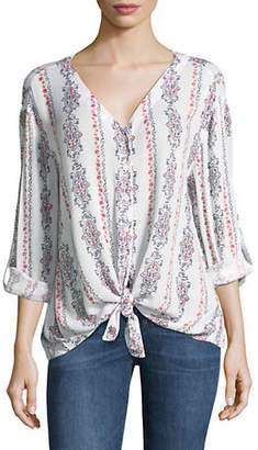 Style&Co. STYLE & CO. Solar Currents Printed Top