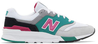 New Balance Grey and Green 997H Sneakers