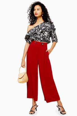 Topshop TALL Cropped Wide Leg Trousers