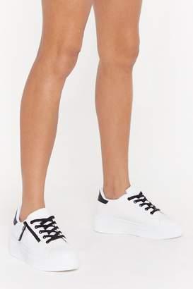 Nasty Gal Zip to the Good Part Platform Sneakers