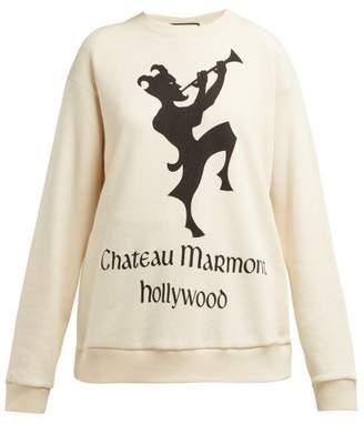 Gucci Chateau Marmont Print Cotton Sweatshirt - Womens - Ivory Multi