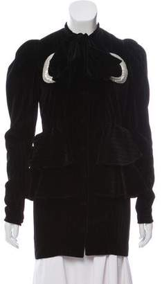 ATTICO Velvet Pinstripe Jacket