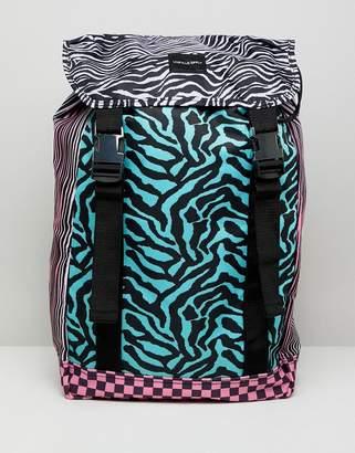 Asos DESIGN festival backpack in multi color animal block print