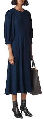 Whistles Fay Leopard Midi Dress