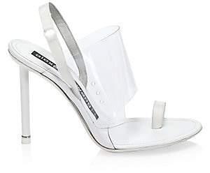 Alexander Wang Women's Kaia PVC Slingback Sandals