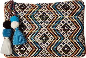 Steve Madden Womens Handbags Shaye Beaded Embroidered Clutch Crossbody