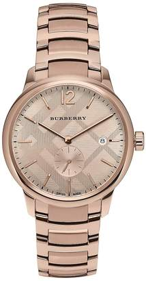 Burberry Men's Rose Gold & Stainless Steel Bracelet Watch