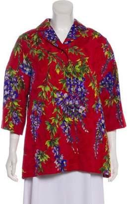 Dolce & Gabbana Jacquard Floral Print Jacket w/ Tags