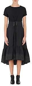 3.1 Phillip Lim Women's Cinched-Waist Cotton Dress-Black