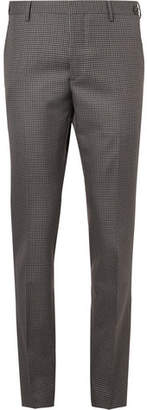 Prada Slim-Fit Puppytooth Virgin Wool And Mohair-Blend Trousers